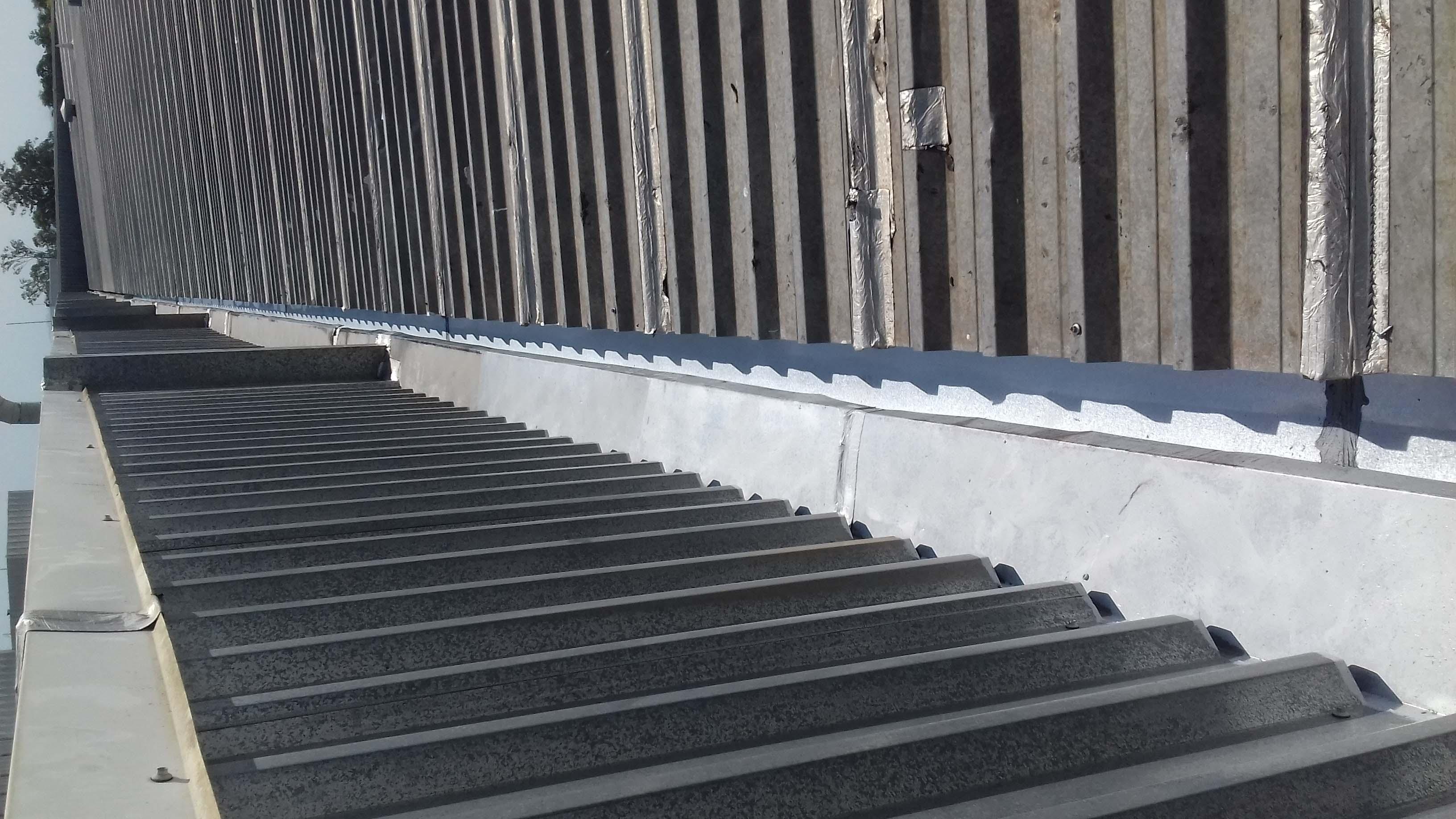Reparo telhado industrial
